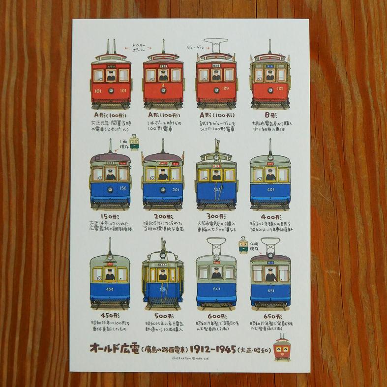 オールド電車 ポストカード